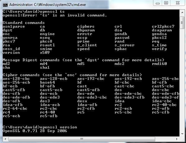 OpenSSL ts